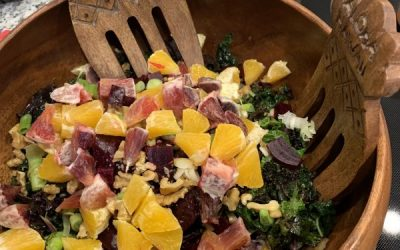 Salad of the Week, Part Two: Kale with Roasted Beets & Orange Segments